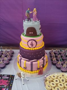 charlottes 4th birthday  Rapunzel/Tangled  cake