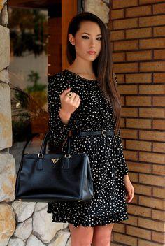 Prada and Polka Dots Cute Work Outfits, Pretty Outfits, Casual Outfits, Outfit Work, Outfit Ideas, Moda Fashion, Womens Fashion, Fashion 2014, Dress Skirt