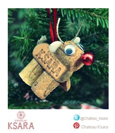 Christmas ornaments & decorations add a lot of fun to your home here is one made with #ChateauKsara #wine corks. Can you think of other designs?
