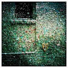 The Gum Wall at Pike Place Market in Seattle! I went there about 5 times that Summer, it was so fascinating, and kinda gross.