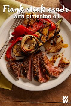 Add a little international flavour to your dinner menu with this flank steak recipe. Add a little pimeton oil and you've got the perfect quick dinner recipe for on-the-go days!