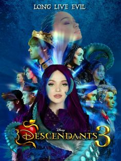 Watch Descendants 3 for free - Watch Free HD Quality Movies Online The Descendants, Dove Cameron Descendants, Descendants Characters, Descendants Costumes, Disney Channel Movies, Disney Movies, High School Musical, Brenna Damico, Mal And Evie