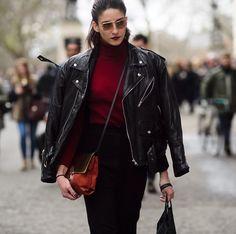 big size leather jacket