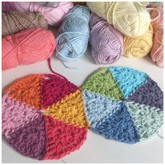 How to crochet the triangles and put them together.
