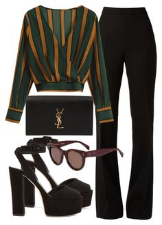 featuring Giambattista Valli, Giuseppe Zanotti, Yves Saint Laurent and CÉLINE Teen Fashion Outfits, Mode Outfits, Look Fashion, Winter Outfits, Fashion Dresses, Cute Casual Outfits, Stylish Outfits, Mode Kylie Jenner, Elegantes Outfit
