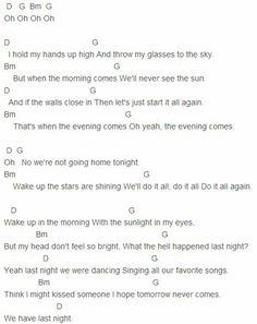 The Vamps - Last Night Chords Capo 4