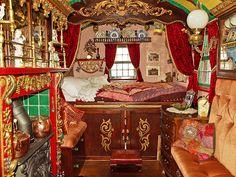 Interior of a horse drawn gypsy wagon | Anguskirk | Flickr