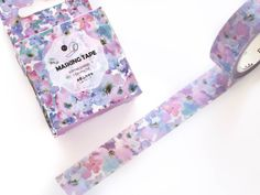 Purple Hydrangea Floral Washi Tape 15mm/ Purple by WashiStation