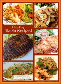 Healthy Tilapia Recipes - perfect fish recipes for Lent!