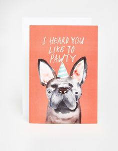 Jolly Awesome Pawty Dog Card