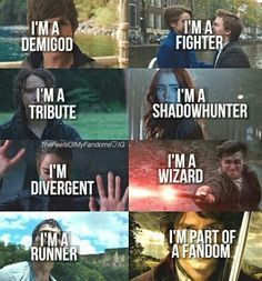 Harry Potter | TFIOS | THG | The Maze Runner | The Mortal Instruments | Divergent | Hobbit | Fandoms