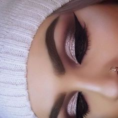 Gorgeous glam by ? Love the shimmery eyes & winged liner! Perfect look for any occasion! Our luxurious mink lashes make the perfect gifts for every glam girl! Prom Makeup, Cute Makeup, Gorgeous Makeup, Pretty Makeup, Wedding Makeup, Glamorous Makeup, Perfect Makeup, Girls Makeup, Maquillage On Fleek