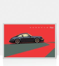 Porsche 964 Carrera Gray.gif