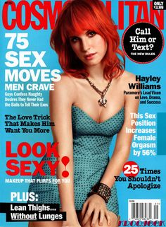 Hayley William's cover for Cosmopolitan, May 2011 (not loving her, but the dress is adorbs!)