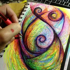 drawings colorful drawing abstract draw bunt pencils doodle colour gute zeichnungen rainy vibrant cool abstrakte pens imagination colored wandfarbe blended