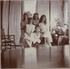 PHOTOS: Rare photos of the Romanov children, who were taken into a basement in 1918 and assassinated along with their parents, the Tsar and Tsarina of Russia. by lula