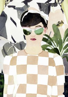 watercolour in Marcel George's illustrations