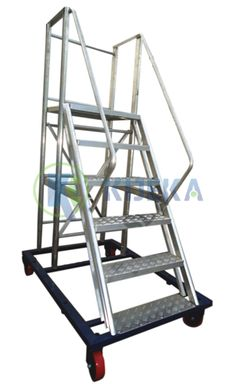 """Made from high tractable aluminum composite. Trolley Step Ladder is intended for open to working at Heights with its cubical Platform   Stepping stool having 2.5"""" Inch wide enemy of slip Steps. Stepping stool Based on M.S. Channel fitted with 2-swiveling Brake Type Caster and 2-fixed sort casters for simple mobility. Aluminium Ladder, Aluminium Alloy, Platform Ladder, Stool, Channel, Technology, Make It Yourself, Type, Simple"""