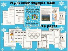"""My Winter Olympics Book"" - pages of facts, worksheets, and activities. Good for 2nd- 4th grade."