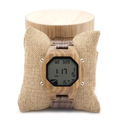 Zebra Wooden LED Digital Watches //Price: $63.88 & FREE Shipping //     #gemstone #bling