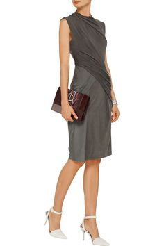 Obsessed with grey lately. Alexander WangDraped stretch-jersey dressfront
