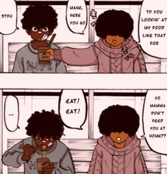 Black Cartoon Characters, Black Girl Cartoon, Dope Cartoon Art, Black Girl Art, Pretty Art, Cute Art, Pink Wallpaper Anime, Character Art, Character Design