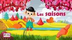Les saisons (comptine à gestes avec paroles) Ⓓⓔⓥⓐ Chanson bébés Petite Section, Season Calendar, Chant, Vocabulary Words, Learn French, Preschool Crafts, Pikachu, Language, Weather