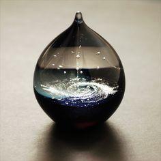 銀河の雫 中 - FUSION FACTORY 宇宙・天体 ガラス 販売 作家もの ギフト ジュエリー アクセサリー TVチャンピオン 送料無料 ガラスアーティスト