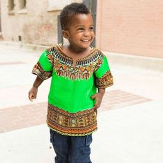 Shop for african clothing on Etsy, the place to express your creativity through the buying and selling of handmade and vintage goods. Dashiki Shirt, Dashiki Dress, African Babies, African Children, Ghana Fashion, African Fashion, African Style, Toddler Fashion, Boy Fashion