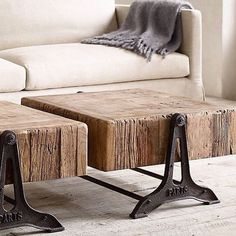 I love this awesome side tables.