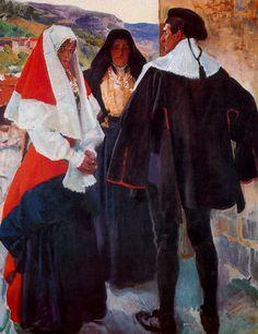 Tipos del Roncal. Museo Sorolla de Madrid. Obra de Joaquín Sorolla