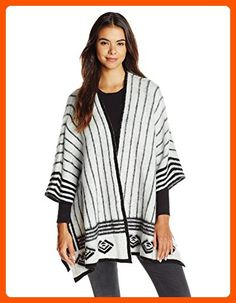 Olive & Oak Women's Abstract Printed Sweater Cape Cardigan, Black Combo, X-Small - All about women (*Amazon Partner-Link)