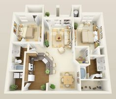 Small Apartment Layout To Upgrade Your Decoration 42