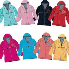 Monogrammed rain jackets by Born To Be Sassy!