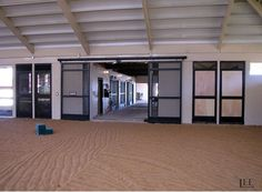 Indoor arena attached to the barn is nice. :)