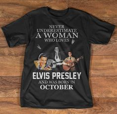 Elvis Presley, October, Couture, Quotes, Mens Tops, T Shirt, Women, Fashion, Haute Couture