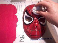 Spiderman Mask Tutorial - by Ciccio @ CakesDecor.com - cake decorating website