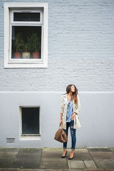 Street style with trench coat