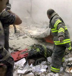 Firefighter Kevin Shea, age 34, found in debris at 10 a.m. on 9/11/01