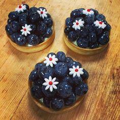 Vanilla mascarpone cream and fresh blueberries. #chefstalk #cheflife #foodphotography #foodstagram #dessert #pastry #gateaux #tarte #pastrychef #yummy #blueberry #patisserie #mascarpone #cream #vanilla