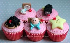 Nursery rhyme cupcakes.  mmmmmmmmm lecker, zum stärken...., dann kann die Party weitergehen.........