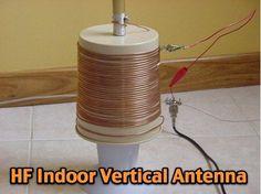 W5ALT Indoor Vertical Antenna