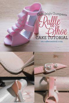 High Heel Shoe Cake Topper Template