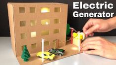 How to Make Electric Generator - Science Project for Kids - Dollhouse Science Project Models, Science Projects For Kids, Science Crafts, Science Activities For Kids, Stem Projects, Science Experiments Kids, School Projects, Kid Science, Steam Activities