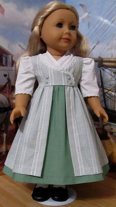 Regency Dress made for American Girl Doll Caroline