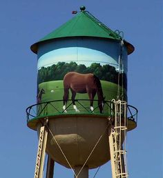 Equestrian Water Tower. The Prince Georges Equestrian Center  at 14900 Pennsylvania Ave.  in Upper Marlboro, (suburbs of Wash, DC.), Prince Georges Co.,  MD. The site was formerly Marlborough Race Course, scene of thoroughbred racing from colonial times thru the 1990's.