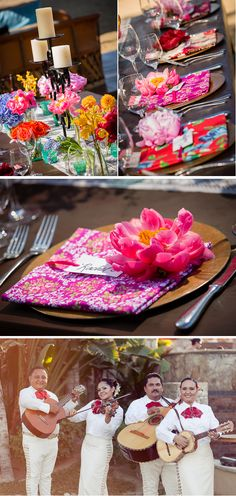 bright colorful mexico destination wedding 3, real weddings ideas and trends