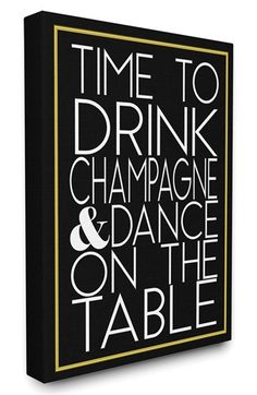 LulusimonSTUDIO 'Drink Champagne & Dance' Canvas Wall Art available at #Nordstrom