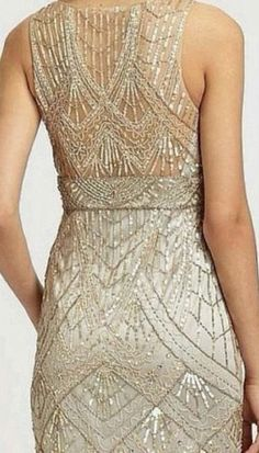 SUE WONG Champagne Silver Beaded Sequin Embellished Evening BrIdal Dress 8 NEW #Dress #Fashion #Deal