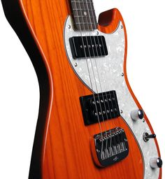 G&L Guitars Fallout in Clear Orange Available only at Full Compass - this exclusive Limited Edition Fallout with Clear Orange Finish, Vintage Tint Neck and Swamp Ash body!What would an '83 G&L SC-2� be if Leo Fender recreated it f